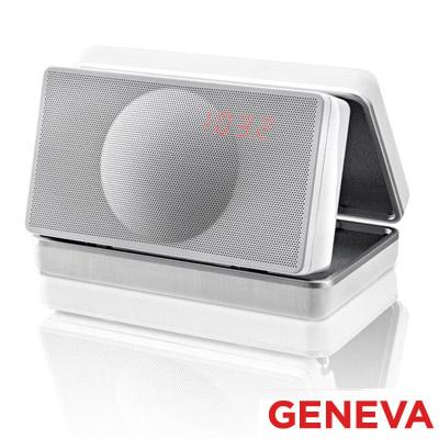 Geneva 攜帶式鬧鐘收音機(Model XS-鋼烤白)