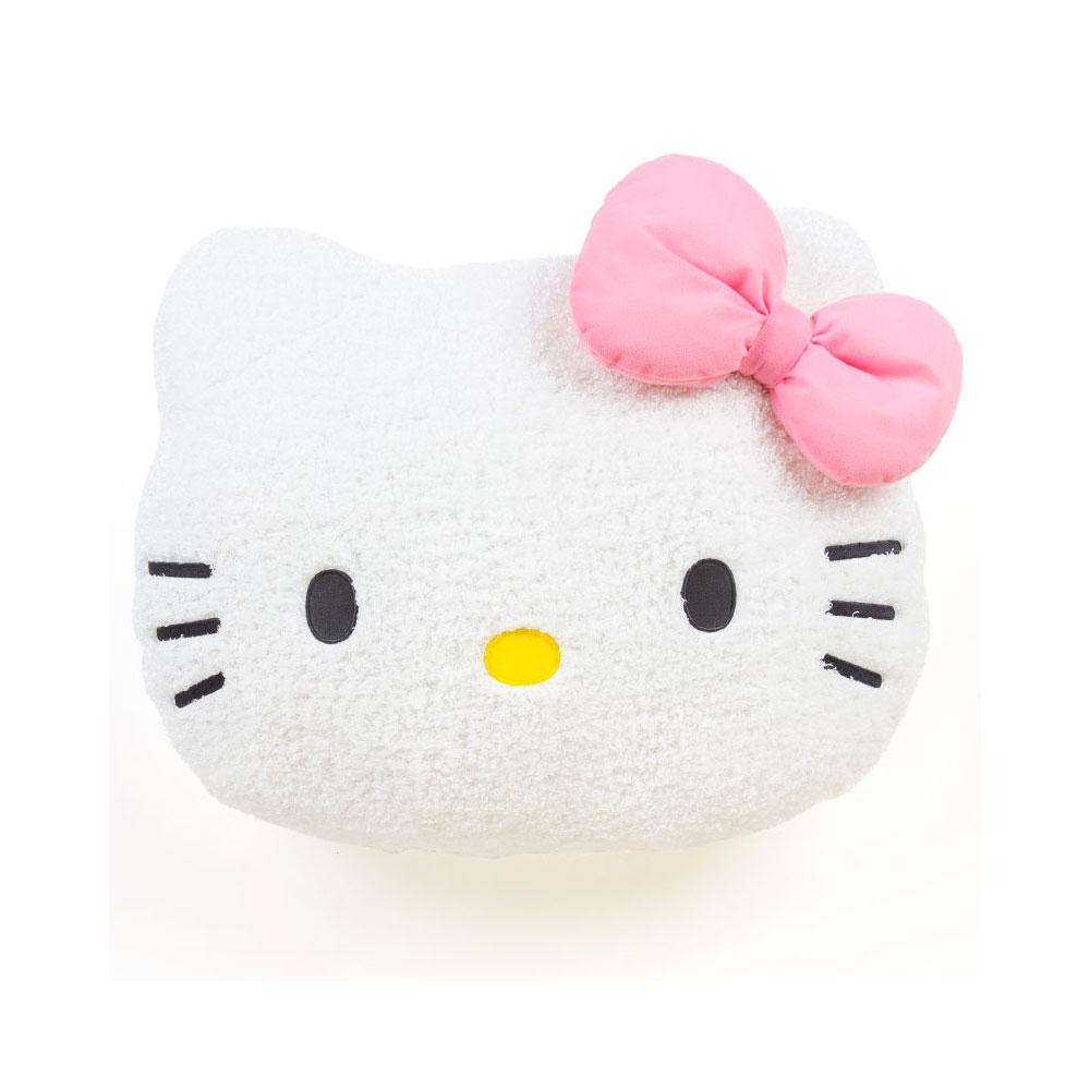 Sanrio HELLO KITTY大臉造型超舒柔靠墊M(緞帶)
