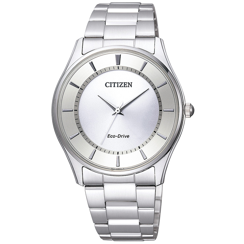 CITIZEN 光動能藍寶石簡約時尚男仕手錶(BJ6481-58A)-銀/37mm
