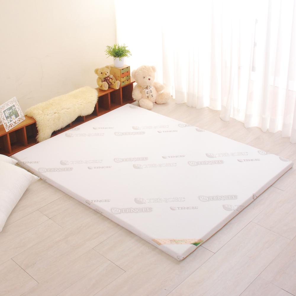LooCa 親膚天絲5cm乳膠床墊 雙人5尺