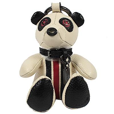 COACH BEAR 熊熊造型鑰匙圈(白)