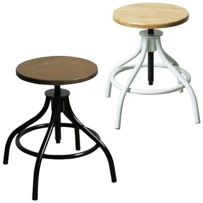 YOI傢俱 工業風金屬莫利椅(椅凳)34.5x34.5x38-56cm