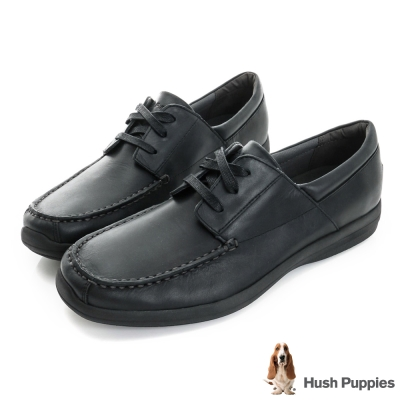 Hush Puppies Bounce 超彈力舒適紳士鞋-黑色