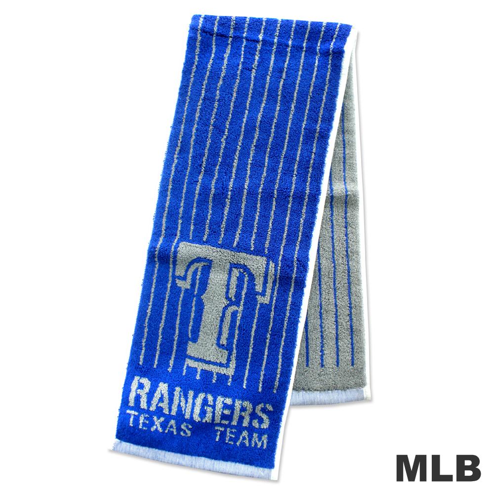 MLB-德州遊騎兵隊直式條紋款運動長巾-藍色