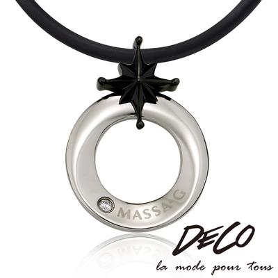 DECO X MASSA~G~北極星戀曲~黑~ 60倍鈦鍺項圈