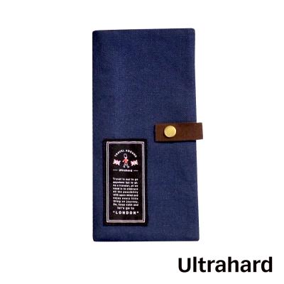Ultrahard Travel Around系列 長版護照套-倫敦(寶藍)