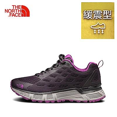 The North Face北面女款紫色排汗抓地跑步鞋