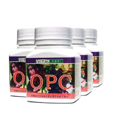 IVITAL艾維特 高效OPC葡萄籽植物膠囊(30粒/瓶)共4瓶組)