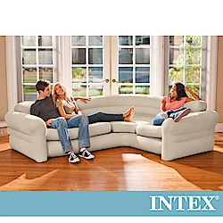INTEX 超大充氣L型沙發椅(68575)
