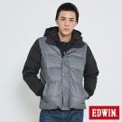 EDWIN 袖可拆雙拼羽絨外套-男-暗灰