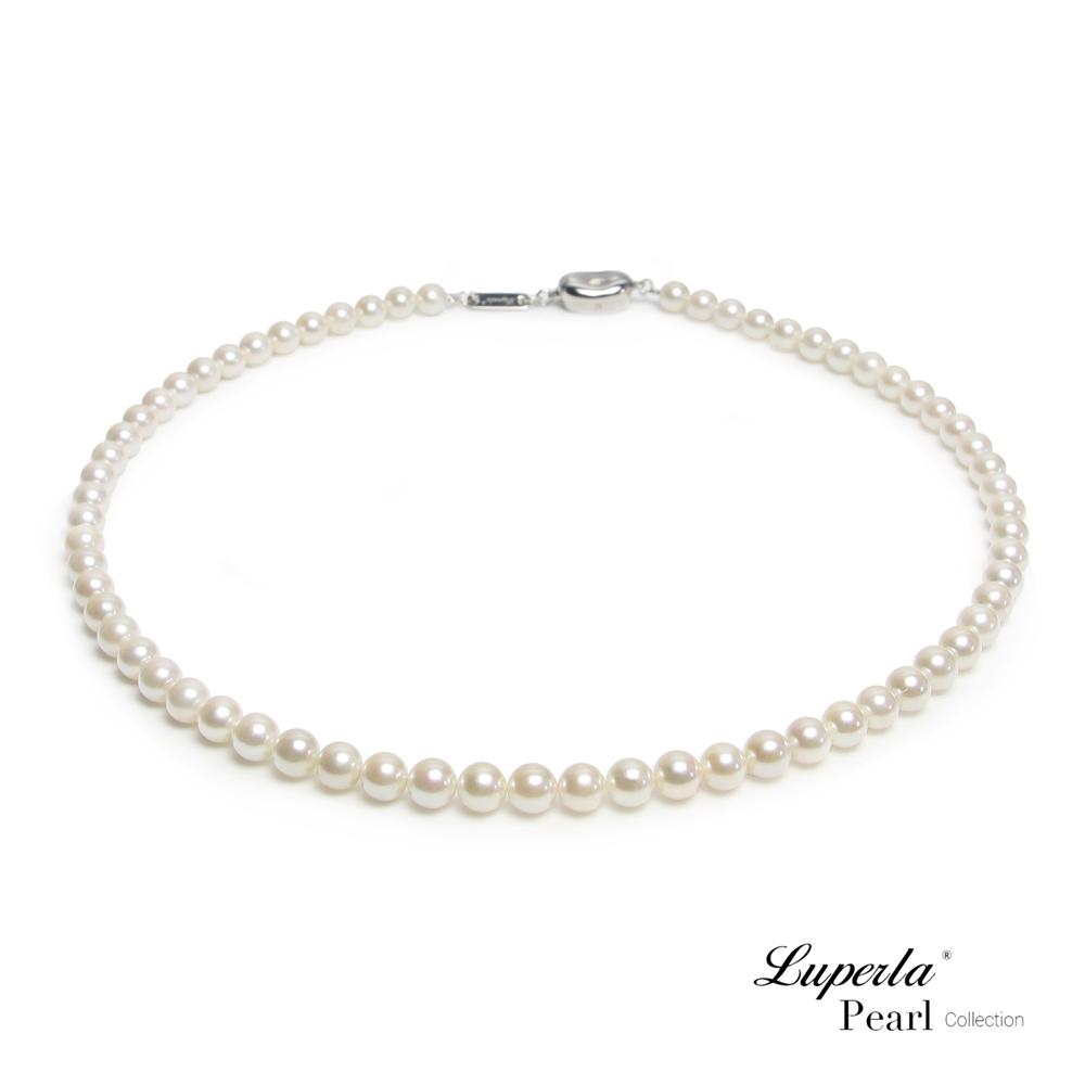 大東山珠寶 日本Akoya海水珍珠系列項鍊 純潔與永恆6-6.5mm