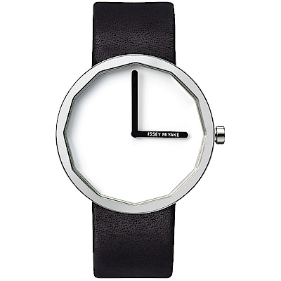 ISSEY MIYAKE 三宅一生TWELVE個性極簡腕錶SILAP001Y-白/38mm