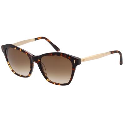 TOD'S 貓眼造型 太陽眼鏡 (琥珀色)TO169