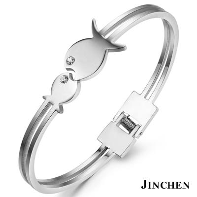 JINCHEN 白鋼小魚兒手環 銀色