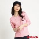BOBSON 女款拼接蕾絲長袖上衣(粉11)