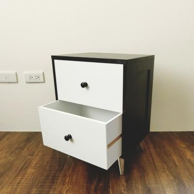 Amos-Mix混搭風時尚二層床頭櫃40x30x54cm