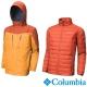 Columbia哥倫比亞 男款-防水羽絨兩件式外套-土黃色 UWE07990OC product thumbnail 1