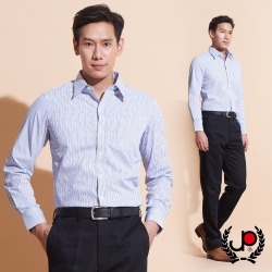 極品西服-輕紳士直條紋長袖襯衫_藍(SW041-55)