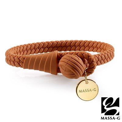 MASSA-G 【絕色典藏】負離子健康能量手環/腳環-榛果褐