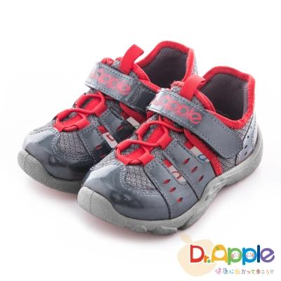 Dr. Apple 機能童鞋 俐落大人風舒適透氣童鞋款 灰