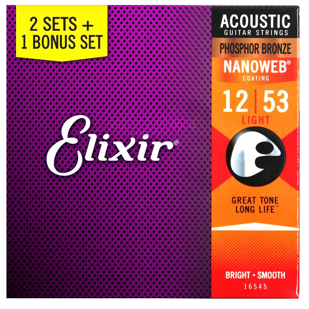 ELIXIR EXXF-16545 民謠木吉他套弦三包裝 @ Y!購物