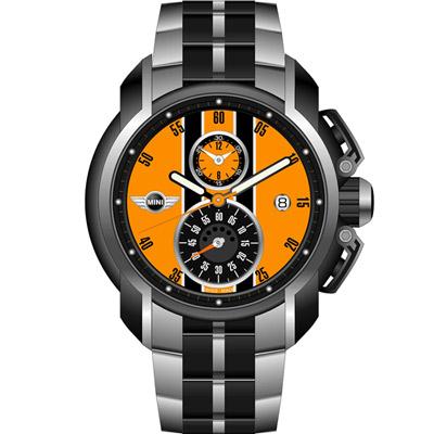 MINI Swiss Watches  極速運動計時腕錶-橘/45mm