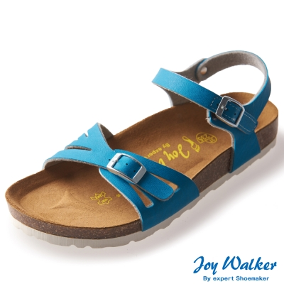 Joy Walker 繽紛色彩一片式平底涼鞋*土耳其藍