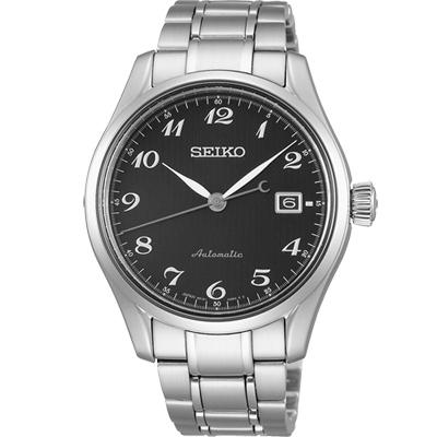 (無卡分期6期)SEIKO Presage 領導者機械錶(SPB037J1)-黑/40.5mm