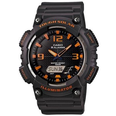 CASIO 新一代光動遊俠雙顯運動錶(AQ-S810W-8A)-深灰X橘時刻/46.6mm