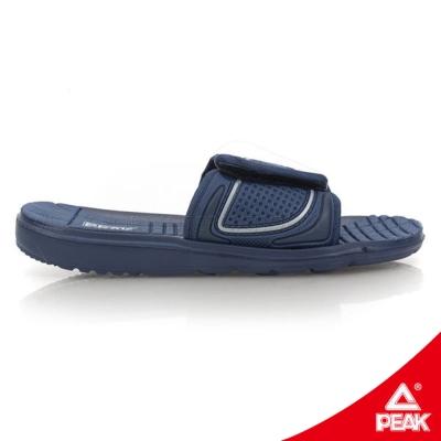 PEAK匹克。男休閒運動拖鞋-海軍藍/銀
