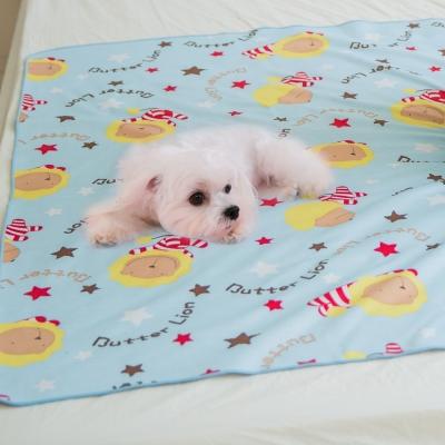 奶油獅-MIT-搖滾星星ADVANTA超防水止滑保潔墊/尿布寵物墊大150*186cm粉藍