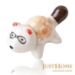 Just Home 日式浣熊造型陶瓷筷架(12件組)