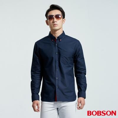 BOBSON  男款配織帶裝飾襯衫
