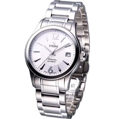 TITONI Airmaster 典雅紳士機械錶~白 37mm