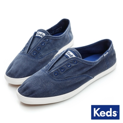 Keds 品牌經典系列之水洗休閒便鞋-海軍藍