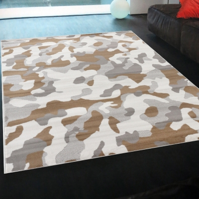Ambience-比利時Shiraz 現代地毯--迷彩(白)(160x230cm).