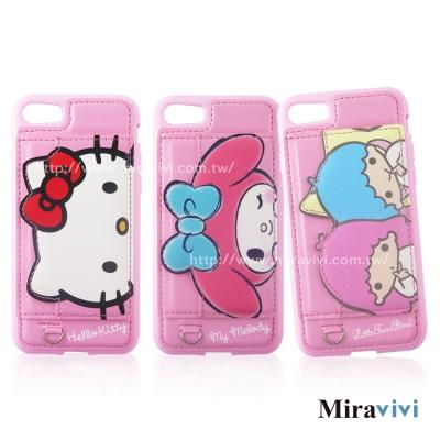 Sanrio三麗鷗iPhone 8/7(4.7吋)可立式經典大頭皮革保護套