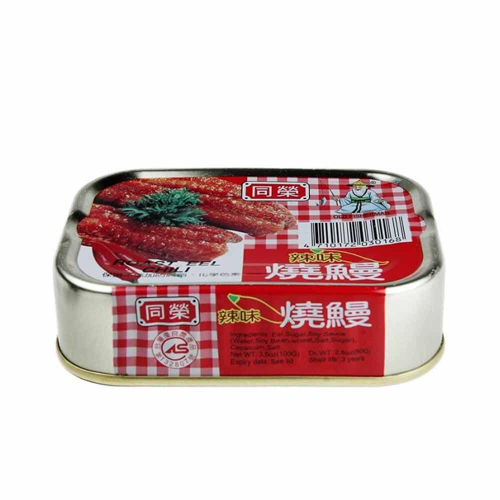 同榮 辣味燒鰻-易開罐(100gx6入)