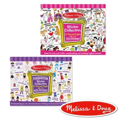 美國瑪莉莎 Melissa & Doug 貼紙收藏簿 - 紫色時尚 + 粉紅色女生主題