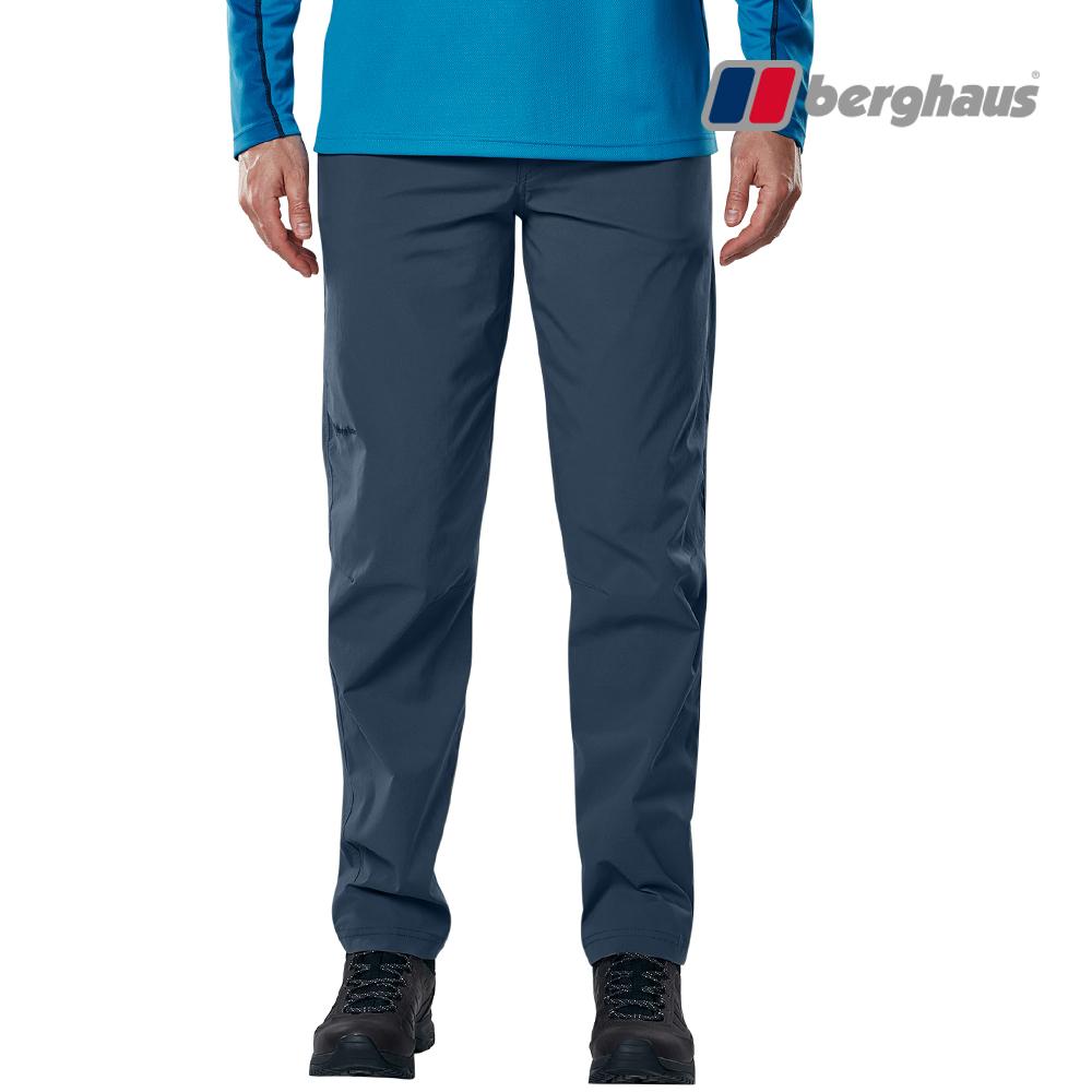 【Berghaus貝豪斯】男款輕量防潑水長褲S07M06-藍