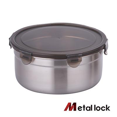 韓國Metal lock 圓形不鏽鋼保鮮盒2300ml