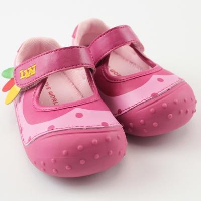 愛的世界 快樂農場寶寶鞋/學步鞋 -中國製-