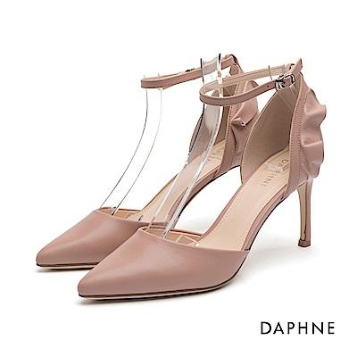 達芙妮DAPHNE 高跟鞋-花邊繞踝繫帶細高跟鞋-粉紅