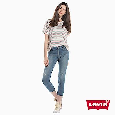 牛仔褲 高腰九分褲 721 緊身窄管 彈性布料 - Levis