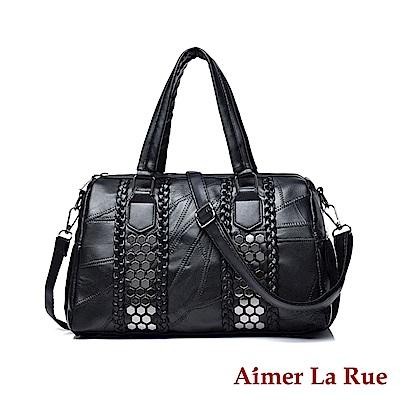 Aimer La Rue 手提側背包 羊皮天馬流蘇系列(黑色)