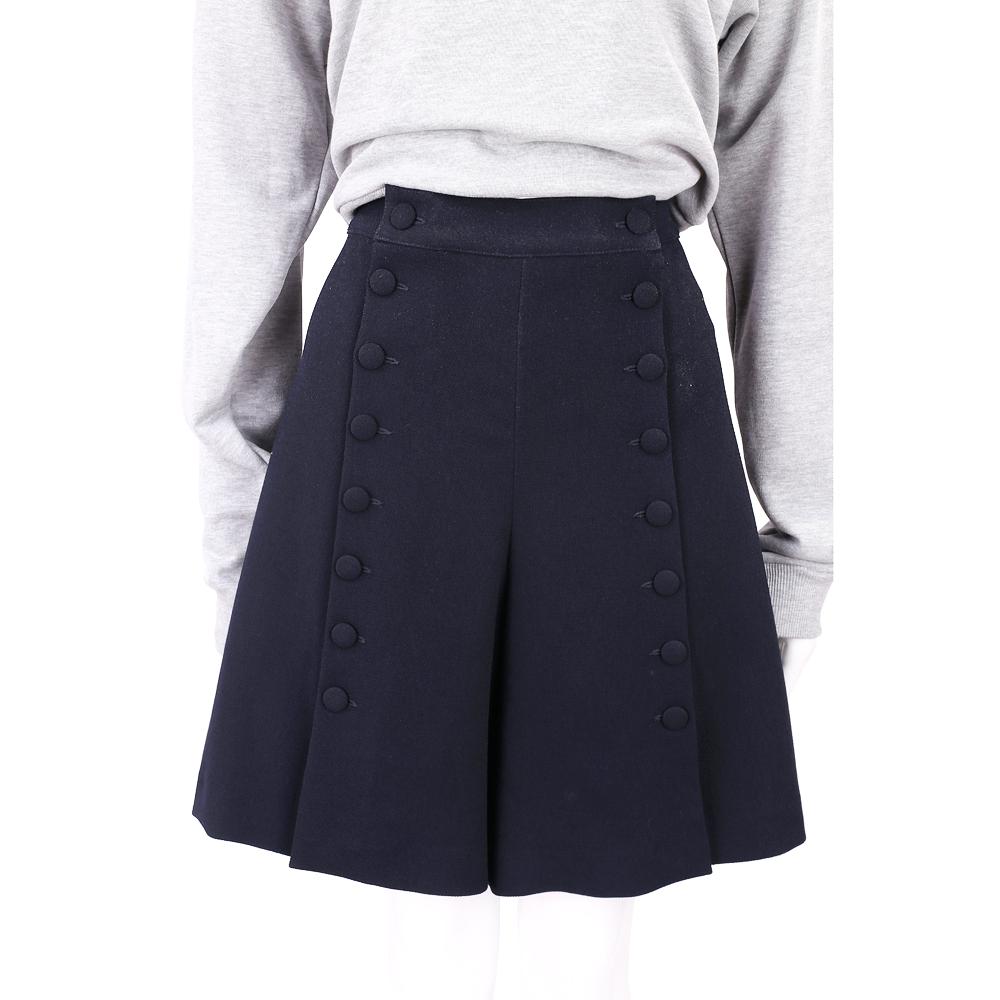 SEE BY CHLOE 黑夜藍排釦設計棉質寬口短褲 @ Y!購物