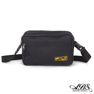 ABS愛貝斯 MIT輕量防潑水兩用式腰包 側背包(百搭黑)714
