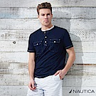 Nautica 仿牛仔款短袖T恤 -深藍