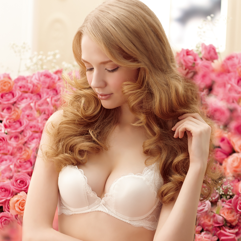 【羅絲美】玫瑰之戀3/4罩一體成型款B-D罩杯內衣 (優雅白)