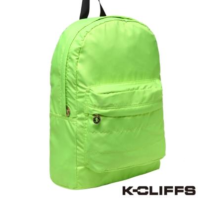 美國K-CLIFFS 螢光系列雙肩後背包 螢光綠